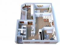 půdorys (Pronájem bytu 4+kk v družstevním vlastnictví 138 m², Ostrava)