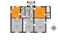 půdorys přízemí (Prodej domu v osobním vlastnictví 273 m², Český Těšín)