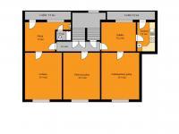 půdorys patra (Prodej domu v osobním vlastnictví 273 m², Český Těšín)