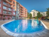 bazén (Prodej bytu 1+kk v osobním vlastnictví 39 m², Nessebar)