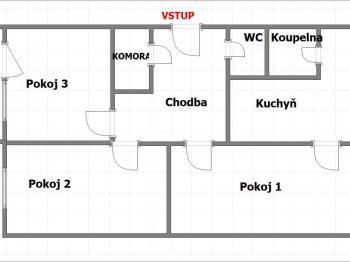 Prodej bytu 4+1 v družstevním vlastnictví 92 m², Šumperk