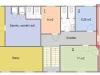 Půdorys kanceláří (Pronájem kancelářských prostor 22 m², Písek)