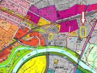 Mapa územního plánu města (Prodej komerčního objektu 5422 m², Strakonice)