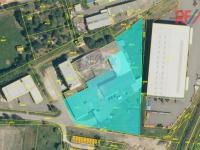 Satelitní snímek z katastrální mapy (Prodej komerčního objektu 5422 m², Strakonice)