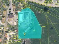 ortofotomapa z CUZK.cz (Prodej komerčního objektu 1032 m², Volary)