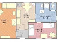 Půdorys přízemí (Prodej domu v osobním vlastnictví 109 m², Třebohostice)