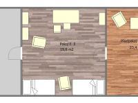 Půdorys podkroví (Prodej domu v osobním vlastnictví 109 m², Třebohostice)
