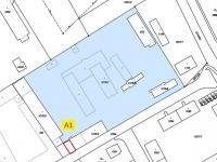 Poloha prostor v areálu (Pronájem kancelářských prostor 65 m², Týn nad Vltavou)