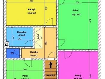 Rodinný dům Trhové Sviny - Prodej domu v osobním vlastnictví 130 m², Trhové Sviny