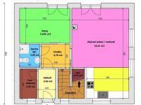 Půdorys přízemí (Prodej domu v osobním vlastnictví 133 m², Srubec)