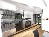 vizualizace interiéru (Prodej domu v osobním vlastnictví 133 m², Srubec)
