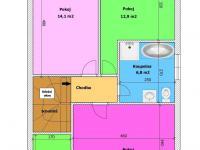 Půdorys - patro (Prodej domu v osobním vlastnictví 123 m², Sedlice)