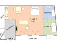 Půdorys bytu - Prodej restaurace 200 m², Hoštice