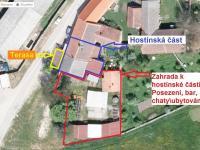 Popis komerční část - Prodej restaurace 200 m², Hoštice