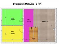 půdorys II.NP (Prodej domu v osobním vlastnictví 125 m², Malovice)