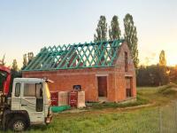 průběh stavby červen 18 (Prodej domu v osobním vlastnictví 125 m², Malovice)