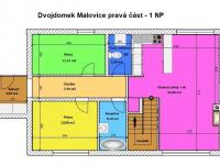 půdorys I.NP (Prodej domu v osobním vlastnictví 125 m², Malovice)