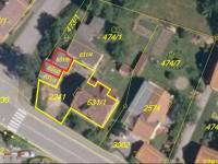 Snímek z katastrální mapy - Prodej domu v osobním vlastnictví 180 m², Prachatice