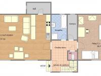 Půdorys 1.NP - Prodej domu v osobním vlastnictví 153 m², Chanovice