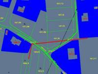 zákres plynovodu červeně (Prodej pozemku 1072 m², Rudolfov)