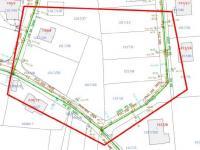 zákres vodovodu a kanalizace (Prodej pozemku 1072 m², Rudolfov)