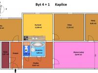 Prodej bytu 4+1 v osobním vlastnictví 87 m², Kaplice