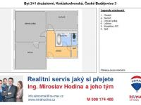 Zděný byt 2+1 Pražské předměstí ČB (Prodej bytu 2+1 v družstevním vlastnictví 65 m², České Budějovice)