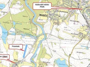 Umístění pozemku - Prodej pozemku 34229 m², Kestřany