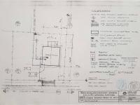 Situace a připojení - ze stavební dokumentace (Prodej domu v osobním vlastnictví 172 m², Mrákov)