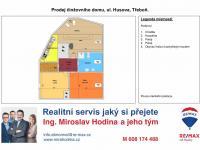 Prodej činžovního domu, ul. Husova, Třeboň (Prodej domu v osobním vlastnictví 288 m², Třeboň)