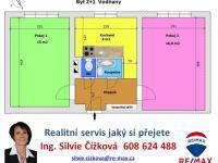 orientační plánek (Prodej bytu 2+1 v osobním vlastnictví 63 m², Vodňany)