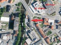 letecká mapa - Pronájem obchodních prostor 750 m², Strakonice