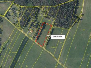 Pozemek dle KN - Prodej pozemku 6626 m², Dobev