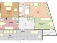 Půdorys 1.NP - přízemí - Prodej domu v osobním vlastnictví 198 m², Brand - Nagelberg