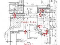 Půdorys 1.NP - Prodej domu v osobním vlastnictví 178 m², Strakonice