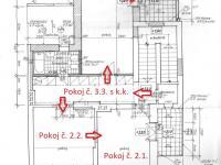 Půdorys 2. NP - Prodej domu v osobním vlastnictví 178 m², Strakonice
