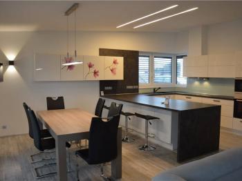 obývací pokoj s kuchyní - Pronájem domu v osobním vlastnictví 158 m², Lišov