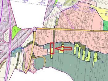 nový územní plán - Prodej pozemku 1864 m², Staré Hodějovice