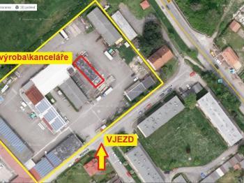Pohled na budovu v areálu - Pronájem komerčního objektu 160 m², Týn nad Vltavou