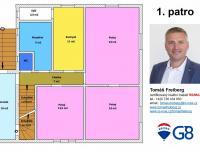 Půdorys - 1.patro - Prodej domu v osobním vlastnictví 320 m², Heřmaň