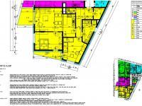 Půdorys bytové jednotky - Prodej bytu 3+kk v osobním vlastnictví 93 m², České Budějovice
