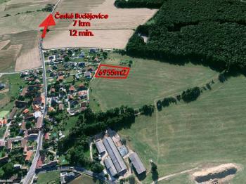 Prodej pozemku 1993 m², České Budějovice
