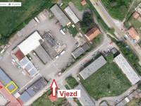 Pohled na satelitní snímek areálu - Pronájem komerčního objektu 165 m², Týn nad Vltavou