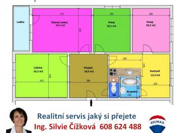 orientační plánek - Prodej bytu 4+1 v osobním vlastnictví 78 m², Plzeň