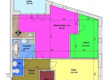 Prodej bytu 3+kk v osobním vlastnictví 70 m², České Budějovice