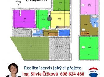 orientační plánek domu - Prodej domu v osobním vlastnictví 234 m², Dolní Třebonín