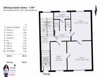 Půdorys 1.NP - Prodej domu v osobním vlastnictví 320 m², České Budějovice
