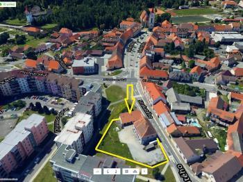 Umístění objektu - Pronájem komerčního objektu 310 m², Blatná