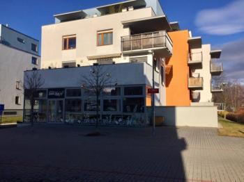 Bistro - U Lučního jezu - pohled na bistro a prostor před budovou  - Pronájem komerčního objektu 148 m², České Budějovice