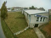 Pohled na pozemek a pavilon č. 5 - Prodej komerčního objektu 7165 m², Vacov